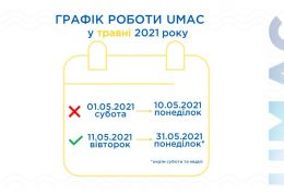 The UMAC work schedule in May 2021